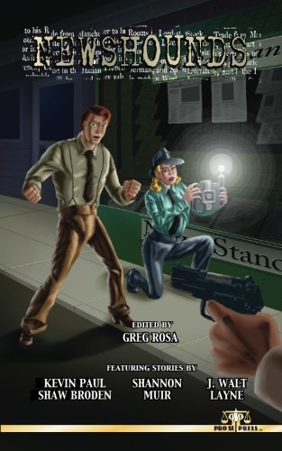 Cover Art for the Anthology Newshounds.